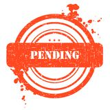 Pending Stamp. Isolated on white Royalty Free Stock Images