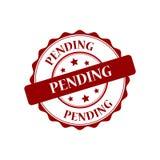 Pending stamp illustration. Pending red stamp seal illustration design Stock Image