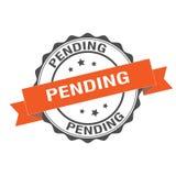 Pending stamp illustration. Pending stamp seal illustration design Royalty Free Stock Images