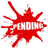 Pending. Stamp with word,pending inside,  illustration Royalty Free Stock Photography