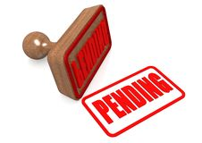 Pending word on wooden stamp Stock Photo
