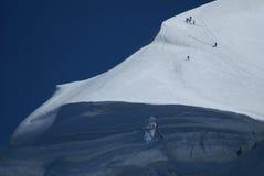 Pendio in alpi svizzere, Zermatt dello sci Fotografia Stock Libera da Diritti