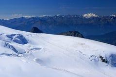 Pendio in alpi svizzere, Zermatt dello sci Immagine Stock