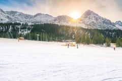 Pendio del cielo nelle alpi austriache Fotografia Stock Libera da Diritti