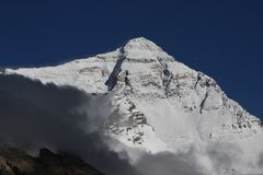 Pendio del nord del Everest Immagini Stock