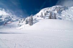 Pendio dello sci in Andalo/Paganella Trentino Immagini Stock Libere da Diritti