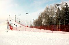 Pendio dello sci di inverno Immagine Stock Libera da Diritti