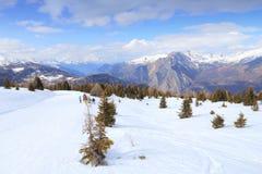 Pendio dello sci in Francia Fotografia Stock