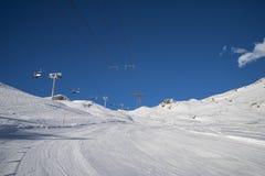 Pendio dello sci in Gressoney Fotografie Stock