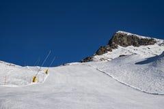 Pendio dello sci in Gressoney Immagini Stock