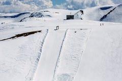 Pendio dello sci nelle alpi italiane Fotografia Stock Libera da Diritti