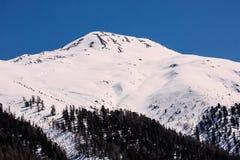 Pendio dello sci nelle alpi italiane Immagine Stock Libera da Diritti