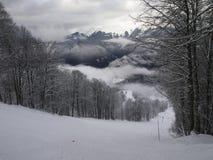 Pendio dello sci in Rosa Khutor, Russia Fotografie Stock