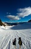 Pendio dello sci su Dolomiti, Italia Immagini Stock