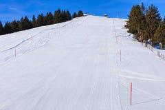 Pendio dello sci sul Mt Rigi in Svizzera Fotografie Stock Libere da Diritti