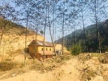 Pendio di collina domestico solo Kathmandu immagine stock