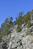 Pendio di collina roccioso Fotografie Stock