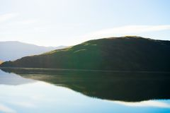 Pendio di collina scozzese Fotografie Stock