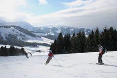Pendio di montagne di inverno della neve Fotografia Stock Libera da Diritti