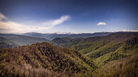 Pendio di Snowy della montagna Fotografia Stock Libera da Diritti