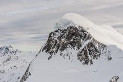 Pendio ripido dello sci in Zermatt, Svizzera Fotografie Stock
