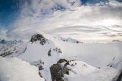 Pendio ripido dello sci in Zermatt, Svizzera Fotografia Stock