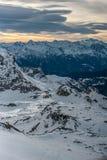 Pendio ripido dello sci in Zermatt, Svizzera Immagine Stock