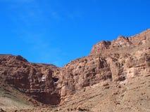 Pendio roccioso del paesaggio del canyon della GOLA di TODGHA nel MAROCCO, zona orientale di alta gamma di montagne dell'atlante  Fotografia Stock Libera da Diritti