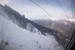 Pendio sulla località di soggiorno di corsa con gli sci, Fotografia Stock Libera da Diritti