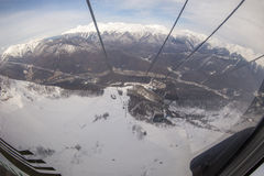 Pendio sulla località di soggiorno di corsa con gli sci, Immagine Stock Libera da Diritti