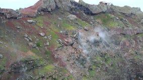 Pendio Vesuvio del cratere del vulcano Napoli, Italia archivi video