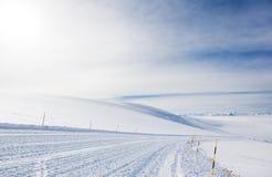 Pendio vuoto dello sci in alta montagna (3900 mt) sulle alpi Fotografie Stock Libere da Diritti