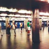 Pendlare i den Budapest tunnelbanan Royaltyfri Fotografi