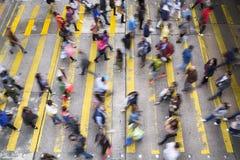 Pendlare i Hong Kong Arkivbilder