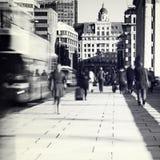 pendlare london Arkivfoton