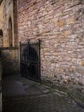 Pendle巫婆在兰卡斯特城堡和前监狱举行在兰开夏郡英国的土牢 库存图片