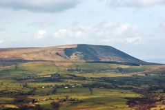 Pendle Hill. Lancashire, England, location of the notorious seventeenth century witch trials royalty free stock photos