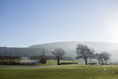 Pendle Hill, Lancashire. Home of witches and Quakerism stock images
