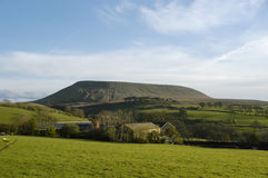 Pendle Hill in Lancashire, summer view Royalty Free Stock Photography