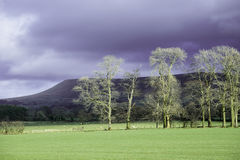 Pendle Hill near Clitheroe in the Ribble Valley Stock Photography