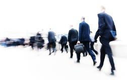 Pendler-Stadt-Lebensversicherungsgeschäft-bewegliches Konzept Stockfotografie