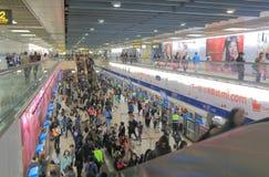 Pendler-U-Bahnuntertagemetrostation Taipeh im Stadtzentrum gelegen Stockfotografie