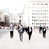 Pendolari della città. Fotografie Stock