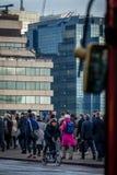 Pendolari di Londra che vanno lavorare Fotografia Stock Libera da Diritti