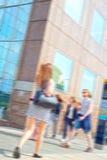 Pendolari vaghi che camminano per lavorare Fotografia Stock Libera da Diritti