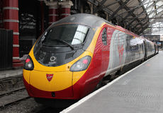 Pendolino electric train in Lime Street station Stock Images