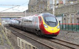 Pendolino electric train on West Coast Main Line Stock Photography