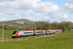 Pendolino electric train on West Coast Main Line Stock Photos