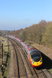 Pendolino electric train on West Coast Mainline Royalty Free Stock Photos