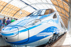 Pendolino left side wroclaw poland first time Stock Image
